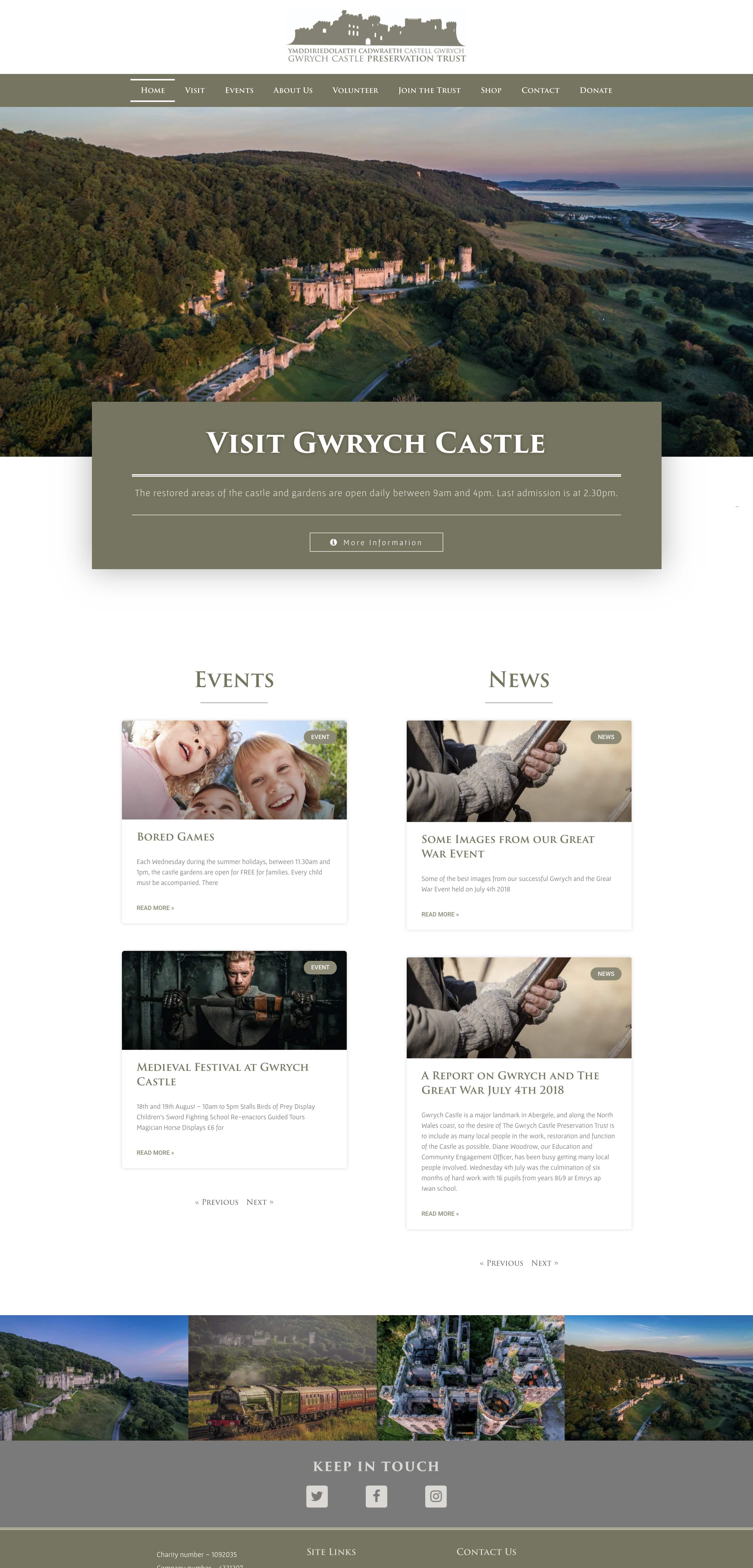 Gwrych Castle Website