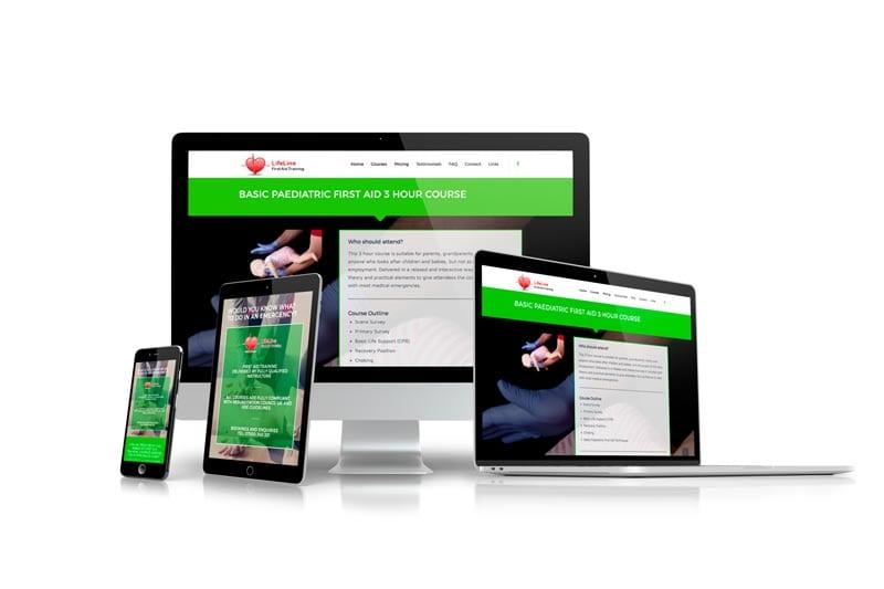 lifeline first aid training website design
