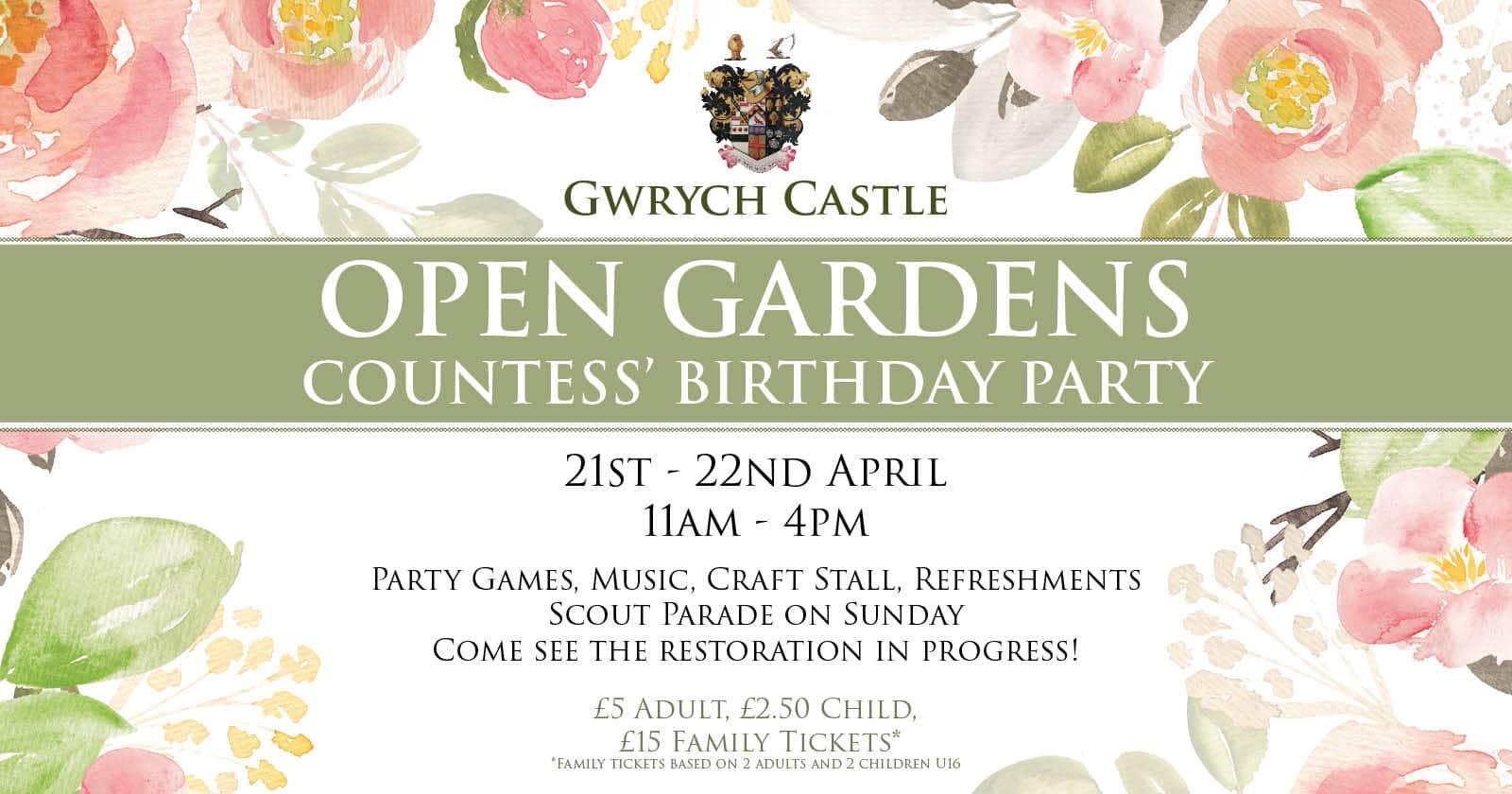 Gwrych Castle Marketing - Flyer Design