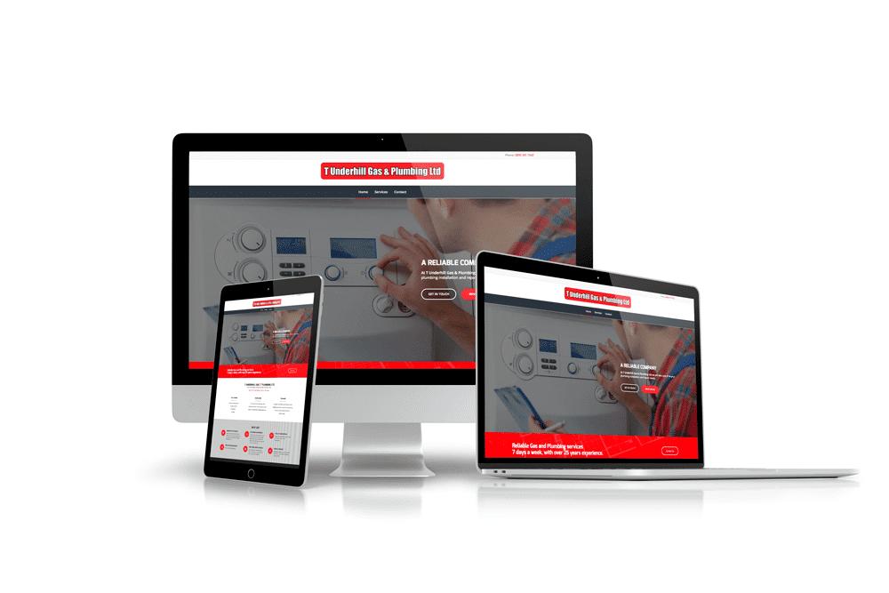 Tim Underhill Plumber Website Design Example