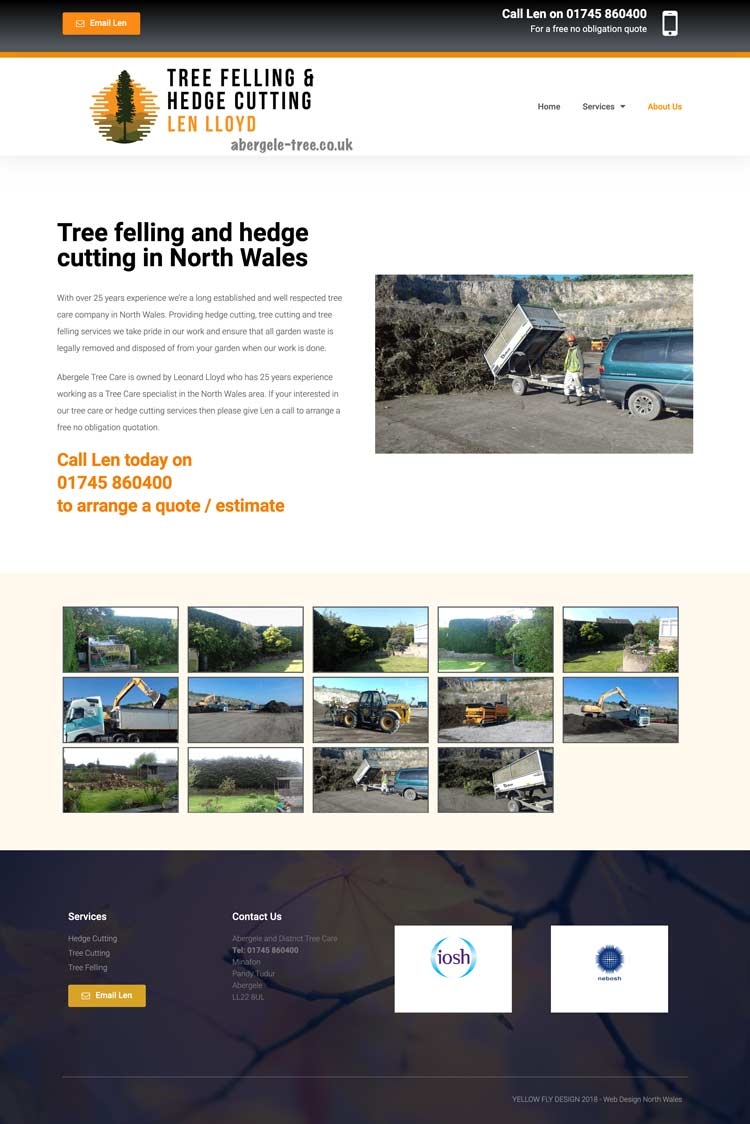 Abergele Tree Website