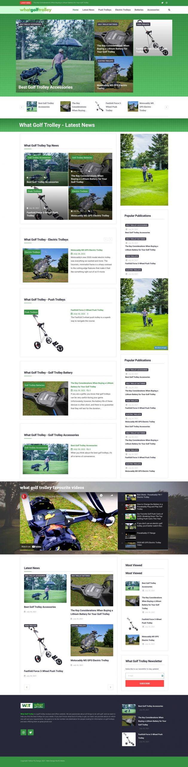 What Golf Trolley website